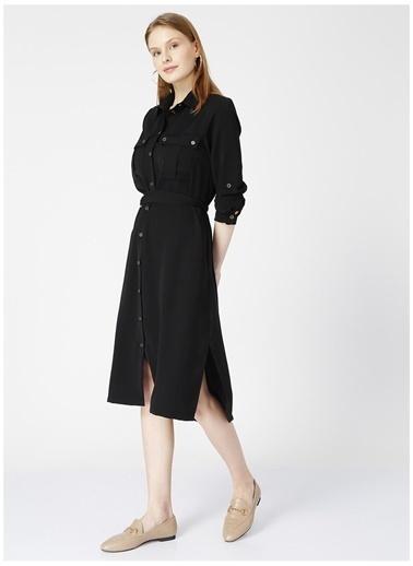 Fabrika Fabrika Dena Siyah Kadın Elbise Siyah